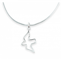 Collier colombe argent