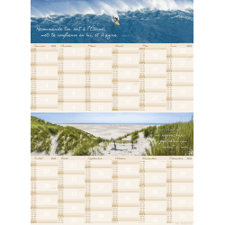 Nature, planning - Calendrier mural